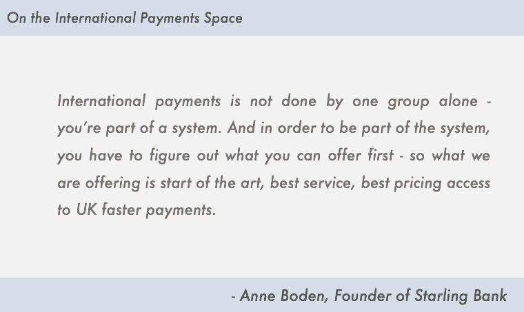 anne boden on international payments starling bank