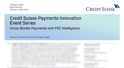 Credit Suisse Payment Series FXC Intelligence
