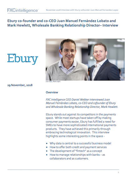 Ebury CEO Interview Juan Lobato