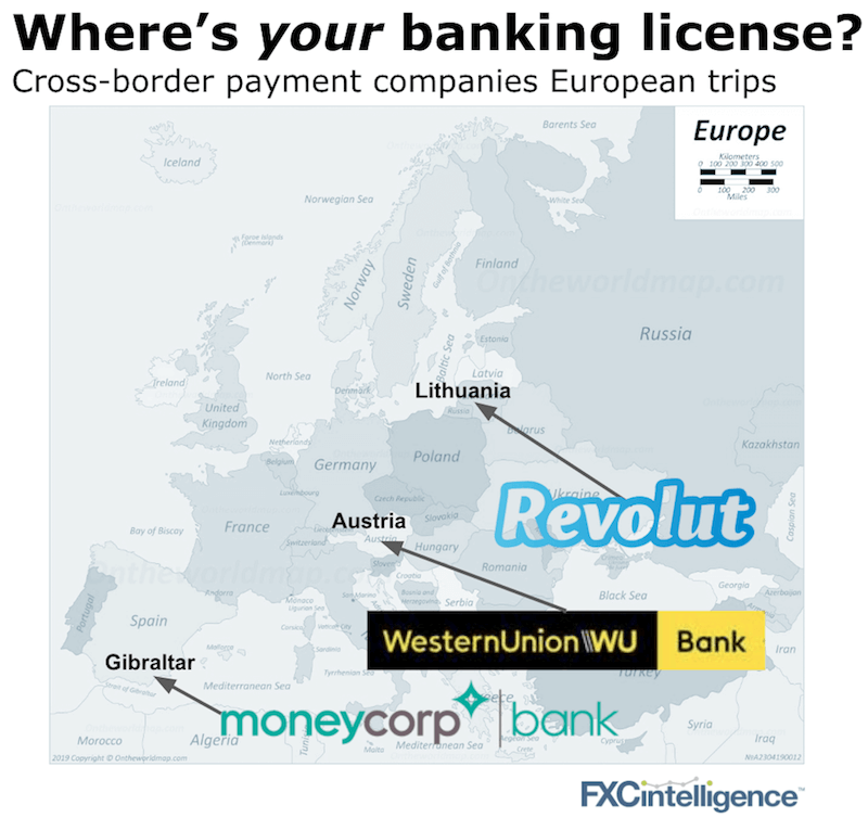 Moneycorp revolut western union banking licenses