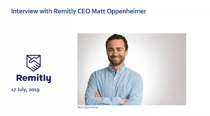 Remitly CEO Interview Matt Oppenheimer