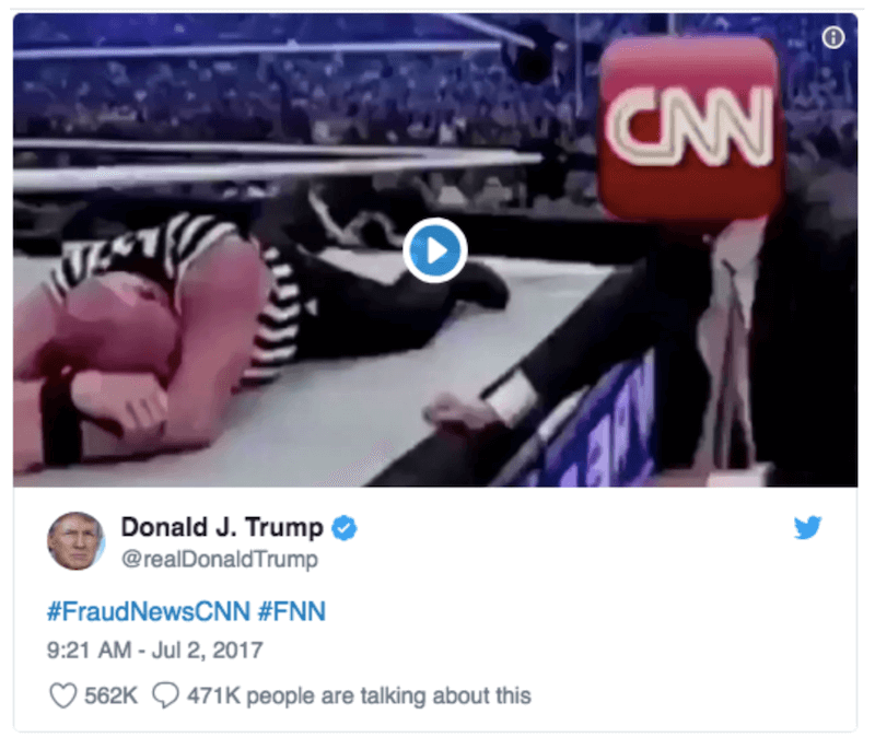 Donald Trump Fraud News CNN Tweet